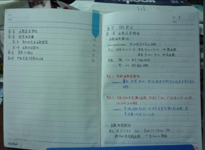 150分学姐手抄高等数学笔记 百度网盘下载