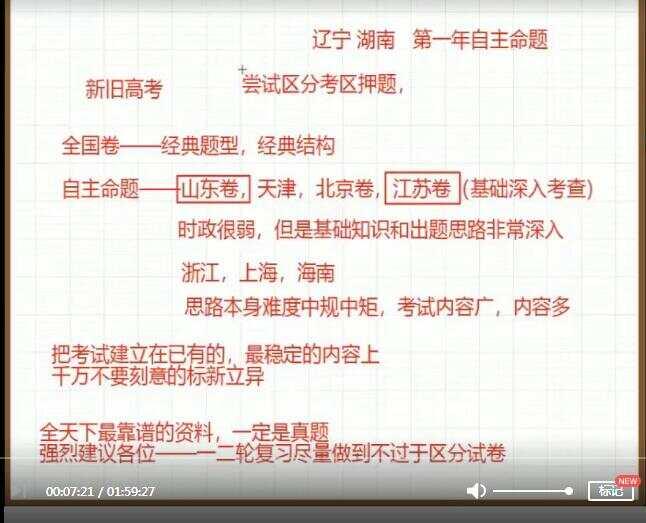 朱法垚2020年高三政治暑期班全套网课视频(9集)